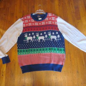 NWT Well Worn Ugly Christmas Sweater Reindeer